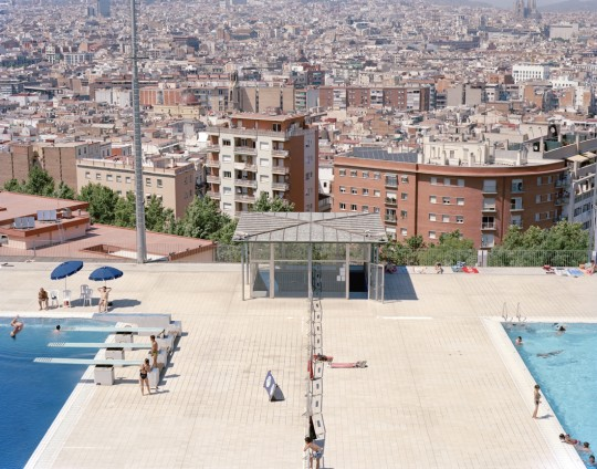 2/9 Montjuic Hill Olympic swimming pool. Barcelona, Spain